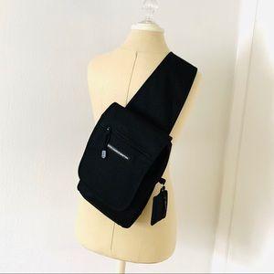 Colors of Benetton sling crossbody black bag GUC